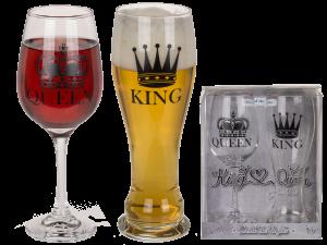 kuninkaalle ja kuningattarelle lasit