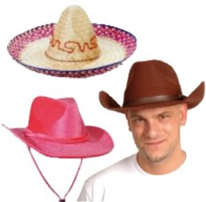 Cowboyhatut ja western