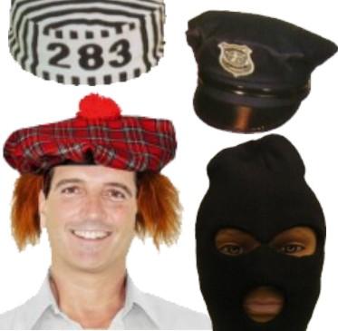 Muut hatut, poliisihattu, lentokapteeni, palomies ym.