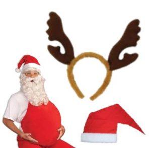 Joulupukin asut, parrat, tonttulakit ja jouluhatut