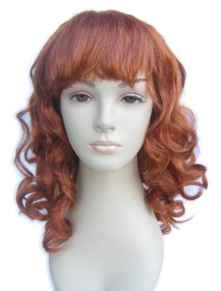 kihara punertava peruukki
