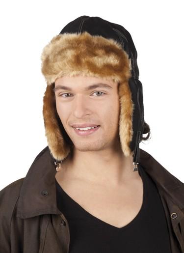 nahka motoristi hattu