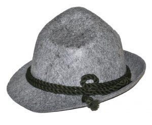 gray oktoberfest hat