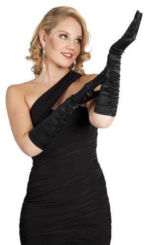 pitkät hansikkaat musta