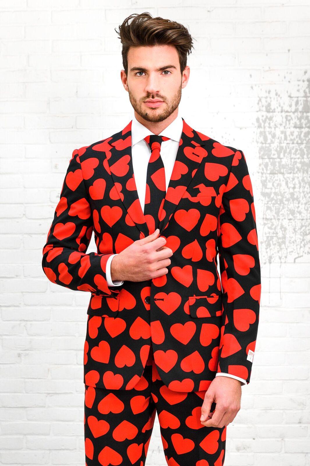 sydän asu opposuits puku