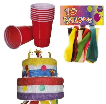 Synttärit, bileet, pinjatat ja ilmapallot