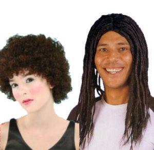 Afroperuukit, kaljut ja rastaperuukit