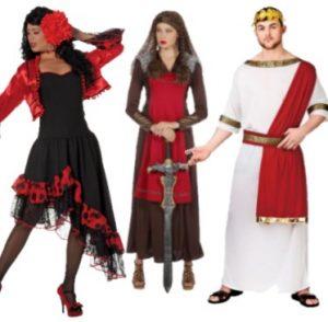 Espanjalaiset, roomalaiset ja muut ulkomaalaiset asut