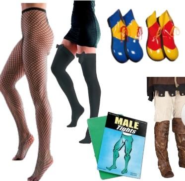 Sukkahousut, sukat, kengät ja laukut
