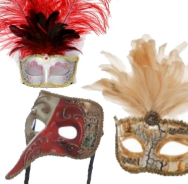 Silmikot ja venetsialaiset naamiot