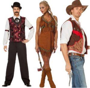 Intiaani-, cowboy-, villilänsi ja mexicoasut
